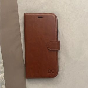 I Phone 11 brown leather wallet phone case